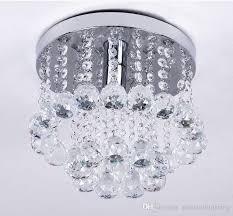 mini style 1 light flush mount crystal chandelier spiral rain drop flush mount chandelier crystal