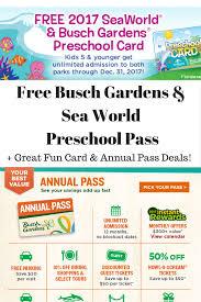 busch gardens deals. Free Busch Gardens Preschool Pass | Deals