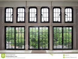 Large Window With Many Panes Stock Photo Image Of Black Many