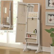 coaster fine furniture white cheval mirror jewelry armoire
