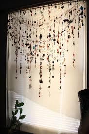 gypsy window veil diamond eye beaded boho curtain w ethnic india glass tribal metal