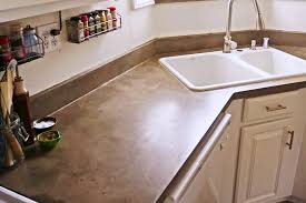 diy feather finish concrete countertop three years later