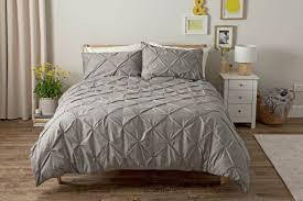 argos home hadley grey pintuck bedding