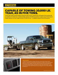 2012 Tundra Towing Capacity Chart 2012 Toyota Tundra Brochure In Tampa Florida Dealer