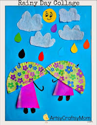 Rainy Day Chart Rainy Day Paper Collage Art For Kids Artsy Craftsy Mom
