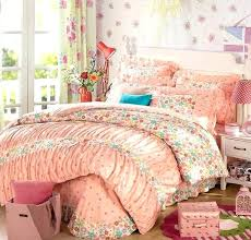 orange blue green pink princess twin full queen king size bedding set lace duvet cover and