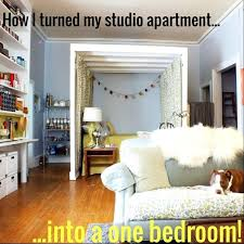 decoration how i turned my studio apartment into a one bedroom the 2 plans