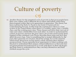 proverty culture of poverty  another theory