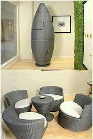 small furniture for small homes. This Set Of Chairs And Small Table Are Curved Smooth In Their Design. The Way They Fit Together Into A Space Saving Egg Design Gives It Soft, Furniture For Homes C