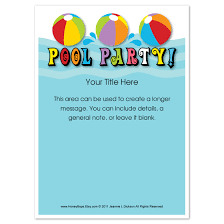 pool party flyer template blank.  Template Free Pool Party Flyer Templates Invitation  Colesecolossus With Template Blank P