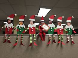 cute office decorations. Elf On The Shelf At Office. Friends. Cute Office Decorations A
