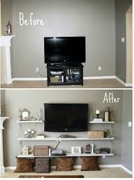 Chain shelf under tv, for ps3, dvd player, etc