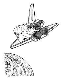 Kids N Fun Kleurplaat Ruimtevaart Space Shuttle Terug Naar Aarde