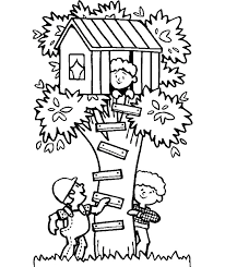 Small Picture Modren Kids Tree House Drawing Draw Clouds Sun And Decorating Ideas