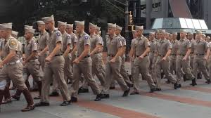 Texas A M Corps Of Cadets Texas A M Corps Of Cadets March In Downtown Fort Worth September