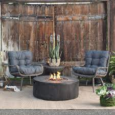 Outdoor Belham Living Rio Wicker Chat Set With Whitehall Gas Fire Pit Gas Firepit Fire Pit Patio Set Propane Fire Pit