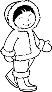 Eskimo Girl Coloring Page