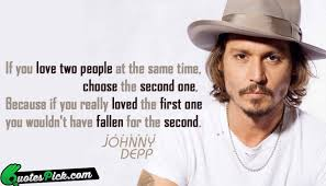 Johnny Depp Love Quotes Gorgeous Johnny Depp Quotes If You Love Two People On QuotesTopics