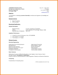 Undergraduate Student Resume Template Resume Sample Format For