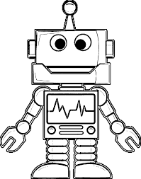 Small Picture Robot Printable Coloring Pages anfukco