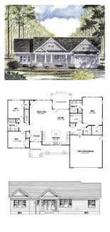 Cottage Country Craftsman Ranch Southern Traditional House Plan 94182