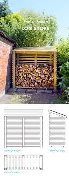 a wooden diy storage shed for firewood