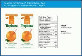 tropicana orange juice nutrition facts label besto for in tropicana orange juice nutrition label