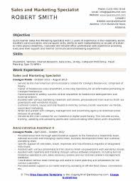 Objective For Resume Marketing Sales And Marketing Specialist Resume Samples Qwikresume