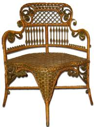 Image of: Vintage Rattan Furniture Picture