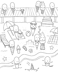 Luxury Summer Coloring Pages 79 About Remodel Print With Of Book