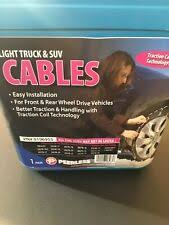 Peerless Truck Tire Snow Snotrac Cable Chains 0196555 For