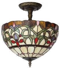 amora lighting am1081hl12 tiffany style stained glass ceiling light fixture