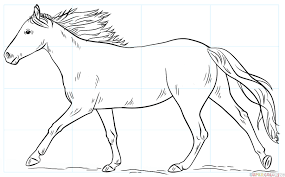 running horse drawing. Beautiful Drawing How To Draw A Running Horse Throughout Running Horse Drawing R