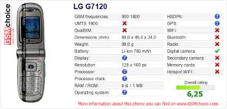 LG G7120 technical specifications ...