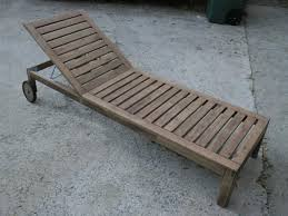 wood chaise lounge. Outdoor Wood Chaise Longue Makeover: Before Lounge