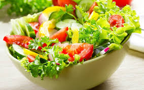 salad background. Fine Salad Salad Background With H