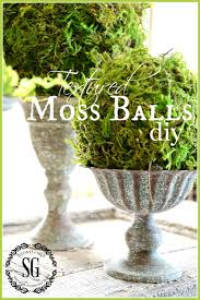 Decorative Moss Balls TEXTURED MOSS BALL DIY StoneGable 45