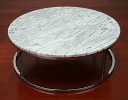 round marble coffee table with chrome base 8
