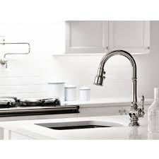 Polished Nickel Kitchen Faucet Kohler K 99261 Sn Artifacts Vibrant Polished Nickel Pullout Spray