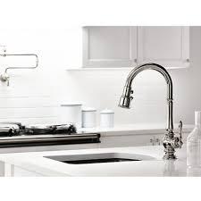 Polished Nickel Kitchen Faucet Kohler K 99261 Sn Artifacts Vibrant Polished Nickel Pullout Spray