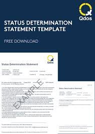 They may also be known as the engager, hirer or end client. Status Determination Statements Free Template Qdos