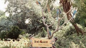 a sign at busch gardens tampa in 1972