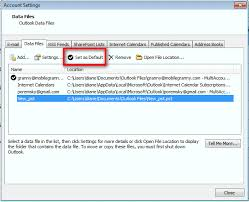 Changing The Default Data File