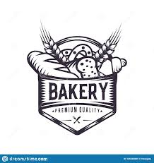 Bakery Logos Design Retro Bakery Logo Design Vintage Badge Illustration Stock
