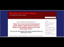 Wordpress Sales Page Template How To Create A Sales Letter Using A