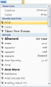 Microsoft Word 2007 To Word 2016 Tutorials Working With Fonts