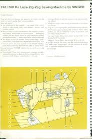 Singer 760 Sewing Machine Manual