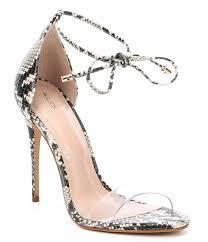 aldo vaycia leather transpa band lace up ankle strap dress sandals dillard s