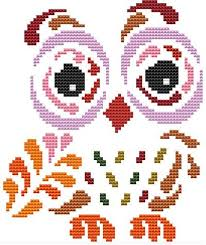 Art Deco Cross Stitch Charts Art Deco Owl 6
