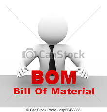 3D Businessman With Bill Of Material Bom. 3D Illustration Business ...